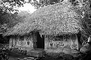 Fisherman's home on the Coromandel Coast of India. near Nagapattinam.<br /> Tamil Nadu. South India.