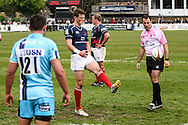 Pete Lydon in action during the Green King IPA Championship Play-Off match between London Scottish &amp; Worcester at Richmond, Greater London on Saturday 2nd May 2015<br /> <br /> Photo: Ken Sparks | UK Sports Pics Ltd<br /> London Scottish v Worcester, Green King IPA Championship, 2nd May 2015<br /> <br /> &copy; UK Sports Pics Ltd. FA Accredited. Football League Licence No:  FL14/15/P5700.Football Conference Licence No: PCONF 051/14 Tel +44(0)7968 045353. email ken@uksportspics.co.uk, 7 Leslie Park Road, East Croydon, Surrey CR0 6TN. Credit UK Sports Pics Ltd