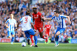 Tammy Abraham of Bristol City under pressure from Lewis Dunk of Brighton & Hove Albion - Mandatory by-line: Jason Brown/JMP - 29/04/2017 - FOOTBALL - Amex Stadium - Brighton, England - Brighton and Hove Albion v Bristol City - Sky Bet Championship