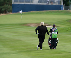Gleneagles, Scotland, UK; 8 August, 2018.  Day one of golf competition at Gleneagles.. Men's and Women's Team Championships Round Robin Group Stage - 1st Round. Four Ball Match Play format. Gleneagles for the European Championships 2018. Pictured; Laura Davies waits to hit approach to 8th green