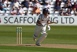 May 4, 2018 - Chelmsford, Greater London, United Kingdom - Yorkshire's Jack Leaning .during Specsavers County Championship - Division One, day one match between Essex CCC and Yorkshire CCC at The Cloudfm County Ground, Chelmsford, England on 04 May 2018. (Credit Image: © Kieran Galvin/NurPhoto via ZUMA Press)