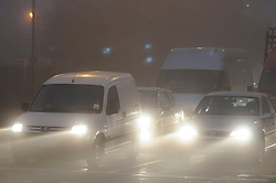 © Licensed to London News Pictures. 15/11/2012.Foggy weather on the roads this morning (15.11.2012) in the borough of Bromley, Kent, South East London border. Traveling to work in the fog this morning as temperatures drop in the South East..Photo credit : Grant Falvey/LNP