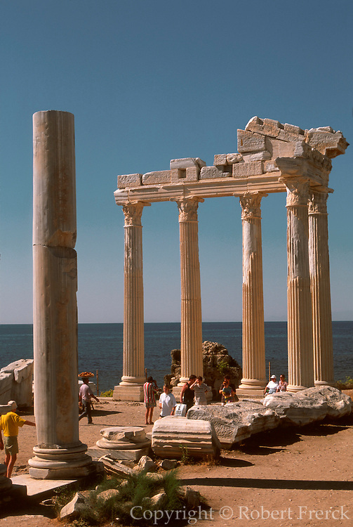 TURKEY, GREEK AND ROMAN Side; Temples of Athena  and amp; Apollo