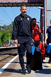 RUNCORN, ENGLAND - Tuesday, May 22, 2018: Wales' manager Ryan Giggs at Runcorn Station as the squad travel by train as they head to Heathrow for a flight to Los Angeles ahead of the international friendly match against Mexico. (Pic by David Rawcliffe/Propaganda)