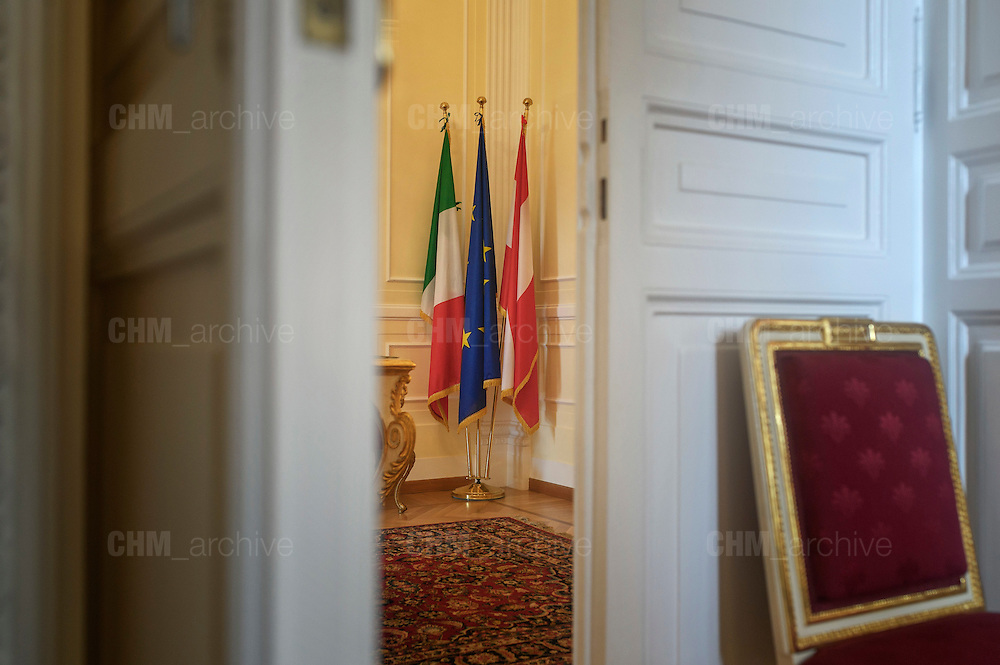 L'interno dell'Ambasciata austriaca a Roma. Roma 28 aprile 2016. Christian Mantuano / OneShot<br /> <br /> Inside the Austrian Embassy in Rome. Rome, 28 April 2016. Christian Mantuano / OneShot