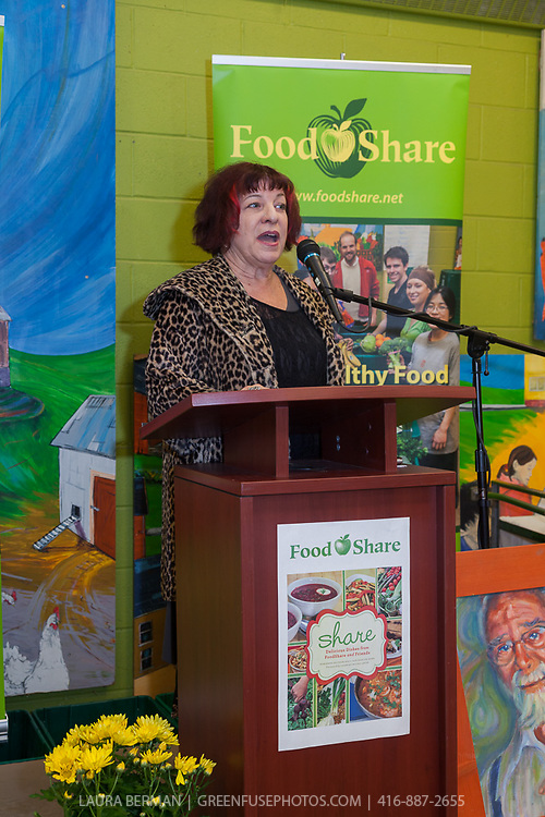 "Marion Kane at the launch party of ""share"", FoodShare's 1st cookbook. Nov. 14, 2012."