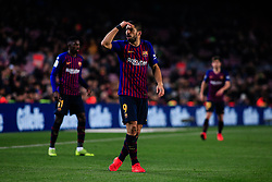 January 20, 2019 - Barcelona, BARCELONA, Spain - 09 Luis Suarez of FC Barcelona during the Spanish championship La Liga football match between FC Barcelona and CD Leganes on 20 of January 2019 at Camp Nou stadium in Barcelona, Spain (Credit Image: © AFP7 via ZUMA Wire)