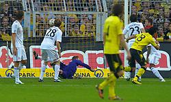 03.10.2010, Signal Iduna Park, Dortmund, GER, 1.FBL, Borussia Dortmund vs Bayern Muenchen im Bild 1:0 Lucas Barrios ( Dortmund #18 )    EXPA Pictures © 2010, PhotoCredit: EXPA/ nph/  Kokenge+++++ ATTENTION - OUT OF GER +++++