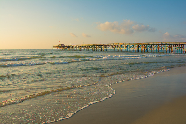 Pawleys Island Pier in the early morning sun.