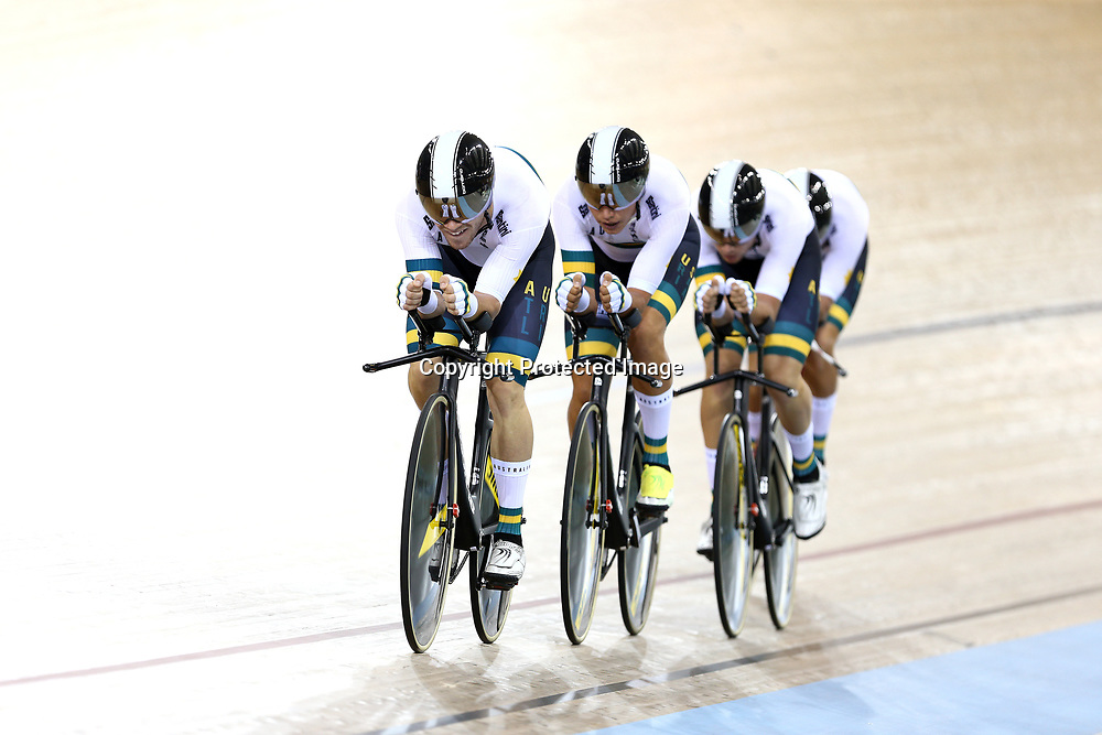 during the UCI Track Cycling World Cup on January 18, 2019 in Cambridge New Zealand. (Photo by Dianne Manson)