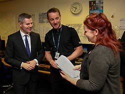 2/2/17 Finance Secretary Derek Mackay visits Howdenhall Police Station in Edinburgh ahead of the Stage One Budget Bill debate in Parliament.
