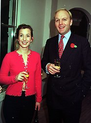 MR ANTHONY & LADY LOUISE BURRELL she is the daughter of the Duke of Argyll,  at a party in London on 2nd November 1999.MYL 9