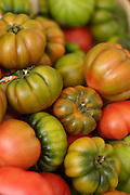 Tomatoes on display, Campo dei Fiori Market, Rome, Italy.