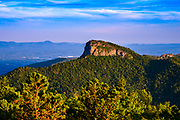 View of Table Rock Mountain from Hawksbill Mountain in North Carolina. <br />