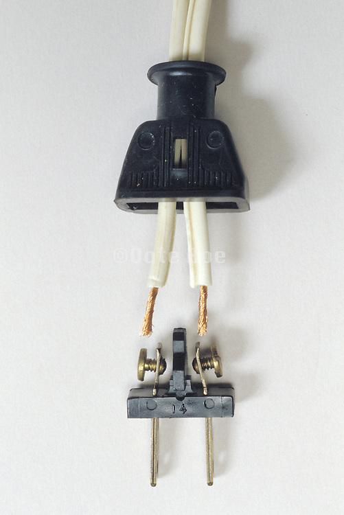 power cord taken apart