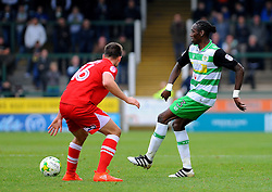 James Berrett of Grimsby Town chases down Nathan Smith of Yeovil Town - Mandatory by-line: Nizaam Jones/JMP - 29/10/2016/ - FOOTBALL - Hush Park - Yeovil, England - Yeovil Town v Grimsby Town - Sky Bet League Two
