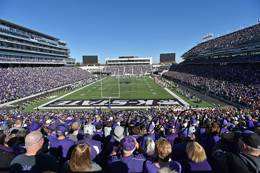 MANHATTAN, KS - OCTOBER 22:  A general view of Bill Snyder Family Stadium during a game between the Kansas State Wildcats and the Texas Longhorns on October 22, 2016 in Manhattan, Kansas.  (Photo by Peter G. Aiken/Getty Images) *** Local Caption ***