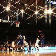 Stirling Gibbs, Seton Hall, Shoots during the Villanova Wildcats Vs Seton Hall Pirates basketball game during the Big East Conference Tournament at Madison Square Garden, New York, USA. 12th March 2014. Photo Tim Clayton