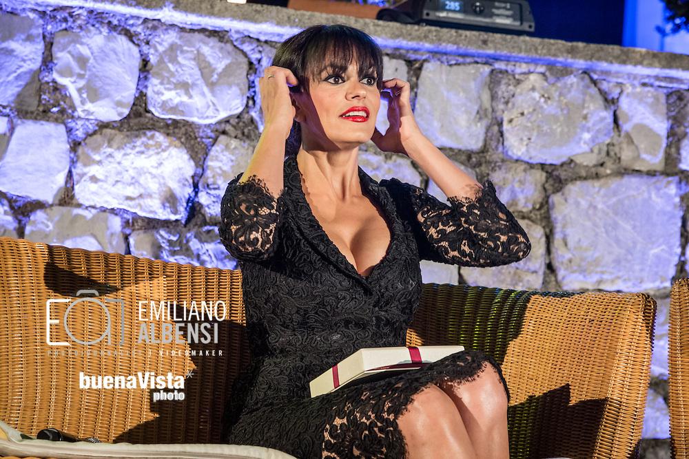 Maratea, Basilicata, Italia, 19/08/2014<br /> L'attrice siciliana Maria Grazia Cucinotta alla Settimana del Cinema di Maratea 2014<br /> <br /> Maratea, Basilicata, Italy, 19/08/2014<br /> The Sicilian actress Maria Grazia Cucinotta in Maratea for the Week of Cinema 2014