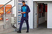 Wimbledon forward Jake Jervis (10), on loan from Luton Town, arrives during the EFL Sky Bet League 1 match between Blackpool and AFC Wimbledon at Bloomfield Road, Blackpool, England on 20 October 2018.