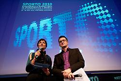 Maja Makovec Brencic and Sasa Jerkovic during Sporto  2010 Gala Dinner and Awards ceremony at Sports marketing and sponsorship conference, on November 29, 2010 in Hotel Slovenija, Portoroz/Portorose, Slovenia. (Photo By Vid Ponikvar / Sportida.com)