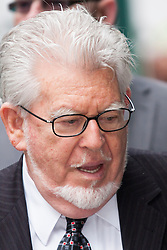 London June 16th 2014. Entertainer and artist Rolf Harris arrives at court in London as his trial nears its conclusion, with the defence's closing speech expected to take place.