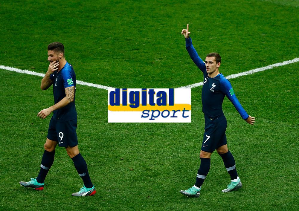 Antoine Griezmann (France) celebration after 1-0<br /> Moscow 15-07-2018 Football FIFA World Cup Russia  2018 Final / Finale <br /> France - Croatia / Francia - Croazia <br /> Foto Matteo Ciambelli/Insidefoto