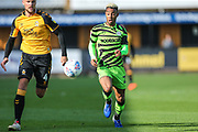 Forest Green Rovers Junior Mondal(25) chases the ball during the EFL Sky Bet League 2 match between Cambridge United and Forest Green Rovers at the Cambs Glass Stadium, Cambridge, England on 7 September 2019.