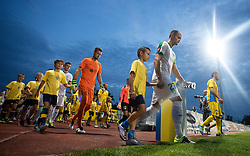 Players arrive to the field before football match between NK Domzale and NK Olimpija Ljubljana in 6th Round of Prva liga Telekom Slovenije 2016/17, on August 20, 2016 in Sportni Park, Domzale, Slovenia. Photo by Matic Klansek Velej / Sportida