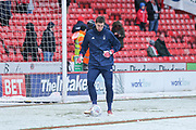 Castel Pantilimon of Nottingham Forest (1) warming up during the EFL Sky Bet Championship match between Sheffield United and Nottingham Forest at Bramall Lane, Sheffield, England on 17 March 2018. Picture by Mick Haynes.