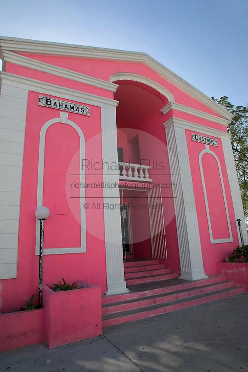 Customs House, Bimini along the King's Highway in Alice Town on the tiny Caribbean island of Bimini, Bahamas