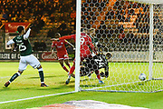 Goal - Ollie Palmer (9) of Crawley Town scores a goal to give a 0-1 during the EFL Sky Bet League 2 match between Plymouth Argyle and Crawley Town at Home Park, Plymouth, England on 28 January 2020.
