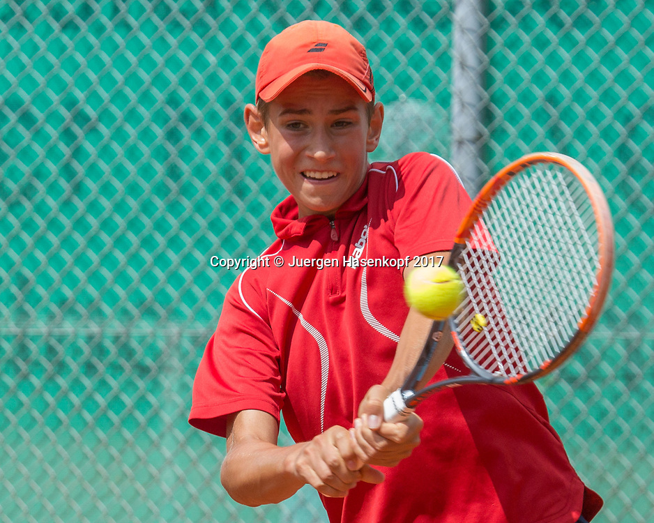 FACUNDO YUNIS (GER) Bavarian Junior Open 2017, Tennis Europe Junior Tour, BS16<br /> <br /> Tennis - Bavarian Junior Open 2017 - Tennis Europe Junior Tour -  SC Eching - Eching - Bayern - Germany  - 9 August 2017. <br /> &copy; Juergen Hasenkopf