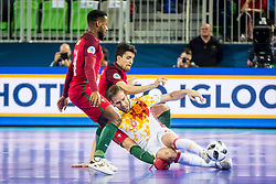 Solano of Spain during futsal match between Spain and Portugal in Final match of UEFA Futsal EURO 2018, on February 10, 2018 in Arena Stozice, Ljubljana, Slovenia. Photo by Ziga Zupan / Sportida