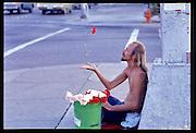 Crazy Carl Hickerson, 6th and Lamar, Austin Texas, 1976.