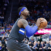 25 February 2017: Orlando Magic forward Terrence Ross (31) eyes the basket during the Orlando Magic 105-86 victory over the Atlanta Hawks, at the Amway Center, Orlando, Florida, USA.