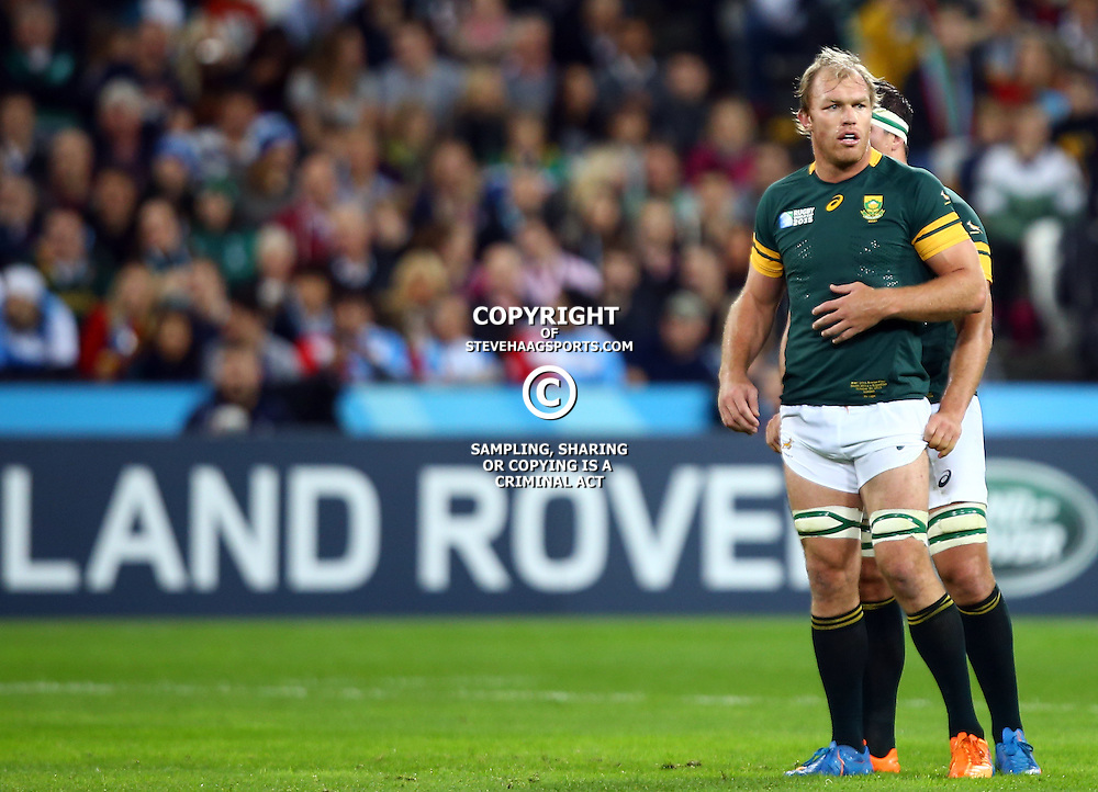 LONDON, ENGLAND - OCTOBER 30: Schalk Burger of South Africa during the Rugby World Cup 3rd Place Playoff match between South Africa and Argentina at Olympic Stadium on October 30, 2015 in London, England. (Photo by Steve Haag/Gallo Images)