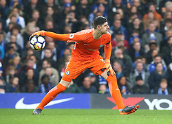 April 8, 2018 - London, England, United Kingdom - Chelsea's Thibaut Courtois.during English Premier League match between Chelsea and West Ham United at Stamford Bridge, London, England on 08 April 2018. (Credit Image: © Kieran Galvin/NurPhoto via ZUMA Press)