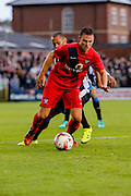 James Berrett during the Pre-Season Friendly match between York City and Newcastle United at Bootham Crescent, York, England on 29 July 2015. Photo by Simon Davies.