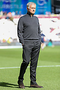 Manchester United Manager Jose Mourinho during the Premier League match between West Ham United and Manchester United at the London Stadium, London, England on 29 September 2018.