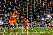 Luton Town defender Matthew Pearson (6) comes close to scoring the equaliser during the The FA Cup 3rd round replay match between Luton Town and Sheffield Wednesday at Kenilworth Road, Luton, England on 15 January 2019.