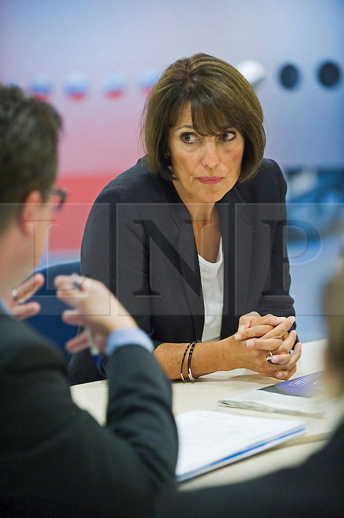 © Licensed to London News Pictures. FILE PHOTO dated 23/07/2011. Carolyn McCall OBE. Chief Executive Officer (CEO) of easy jet. Pictured here at the easyjet headquarters at Luton Airport, Bedfordshire, UK. Budget airline Easyjet has reported a rise of 50.9% in annual profits to £478m. Photo credit: Ben Cawthra/LNP