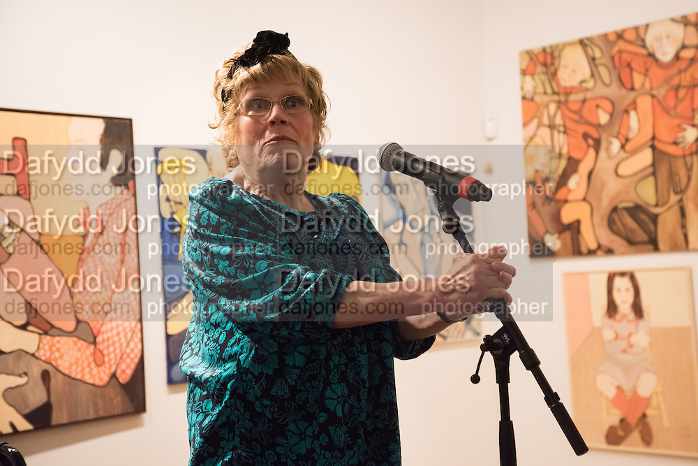CHARLOTTE JOHNSON WAHL;  Exhibition opening of paintings by Charlotte Johnson Wahl. Mall Galleries. London, 7 September 2015.