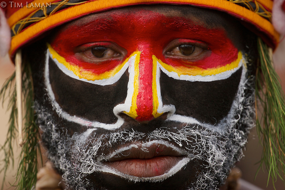 Man from Western Highlands Province..Goroka, Eastern Highlands Province, Papua New Guinea.