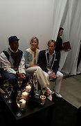 Russell Simmons, Tommy Hilfiger and Lizzie Somerby. Karl Largerfeld hosts the launche of Dom Perignon Vintage 1998. Skylight Studios. 275 Hudson St. New York. 2 June 2005. ONE TIME USE ONLY - DO NOT ARCHIVE  © Copyright Photograph by Dafydd Jones 66 Stockwell Park Rd. London SW9 0DA Tel 020 7733 0108 www.dafjones.com
