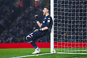 Francisco Casilla of Leeds United (33) lines up a wall during the EFL Sky Bet Championship match between Leeds United and West Bromwich Albion at Elland Road, Leeds, England on 1 March 2019.