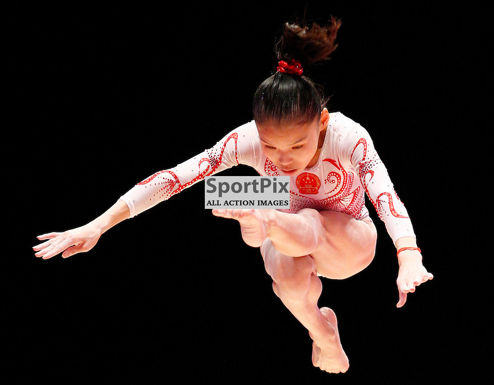 2015 Artistic Gymnastics World Championships being held in Glasgow from 23rd October to 1st November 2015...Chungsong Shang (Peoples Republic of China) competing in the Balance Beam competition...(c) STEPHEN LAWSON | SportPix.org.uk