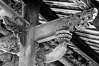 Beautiful eaves in old Qing dynasty dwelling, China.