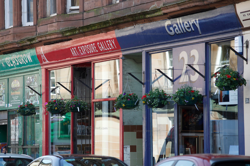 Picture shows : Galleries in Parnie Street. Merchant City Area, Glasgow. Travel guide feature..Picture Drew Farrell. tel : 07721-735041......