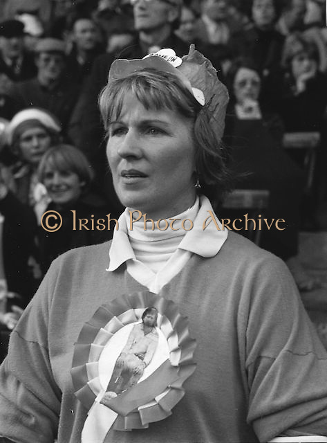 Supporters during the All Ireland Football Final Dublin v Armagh at Croke Park, 25th September 1977.